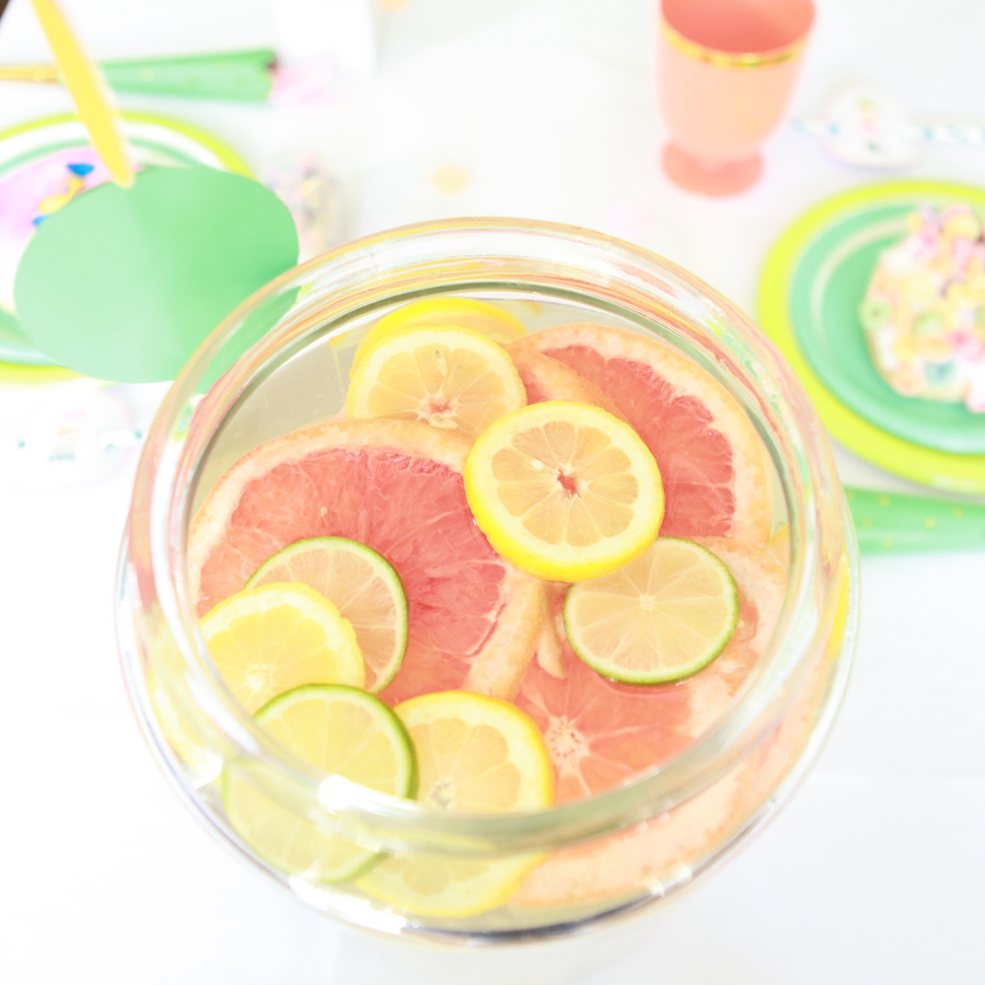 confetti party citrus water