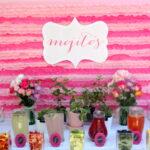 pink, summery mojito bar