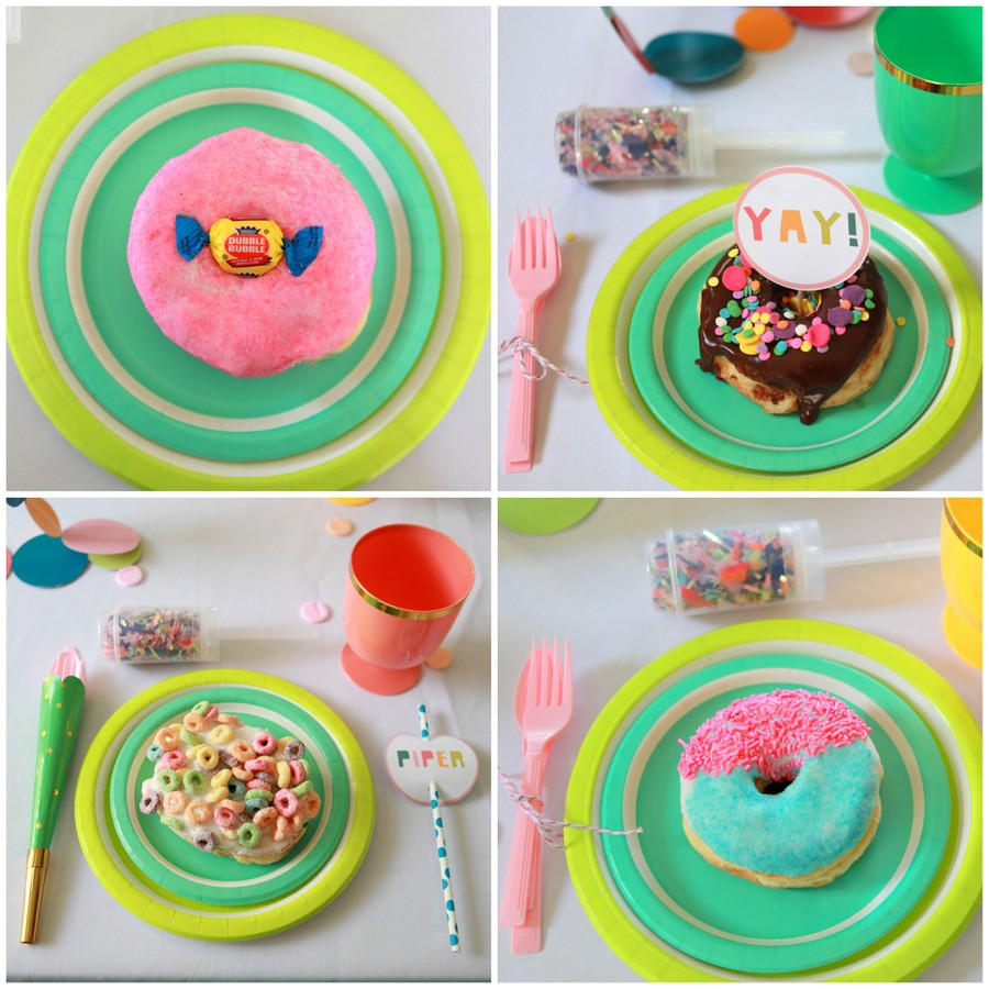 confetti party donuts