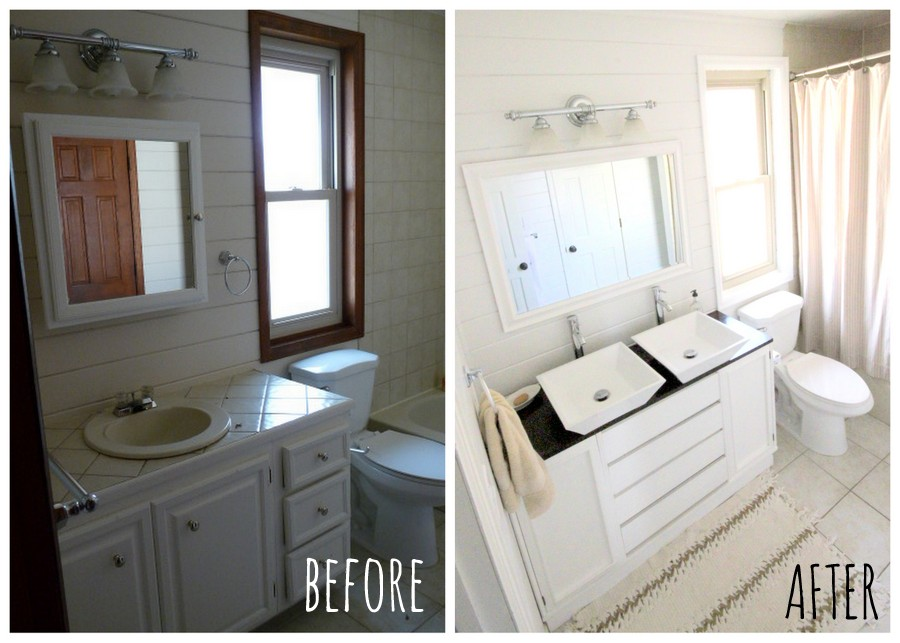 bathroom makeover for less than $300 (before and after!)