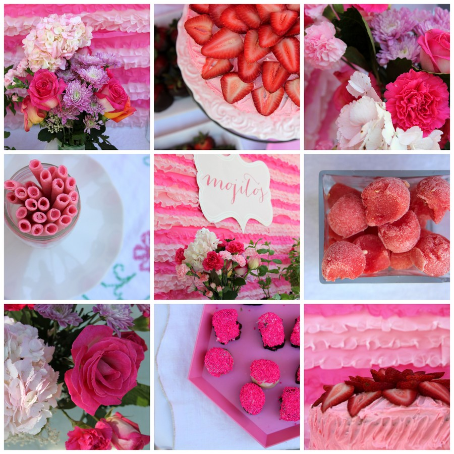 pink girly baby shower