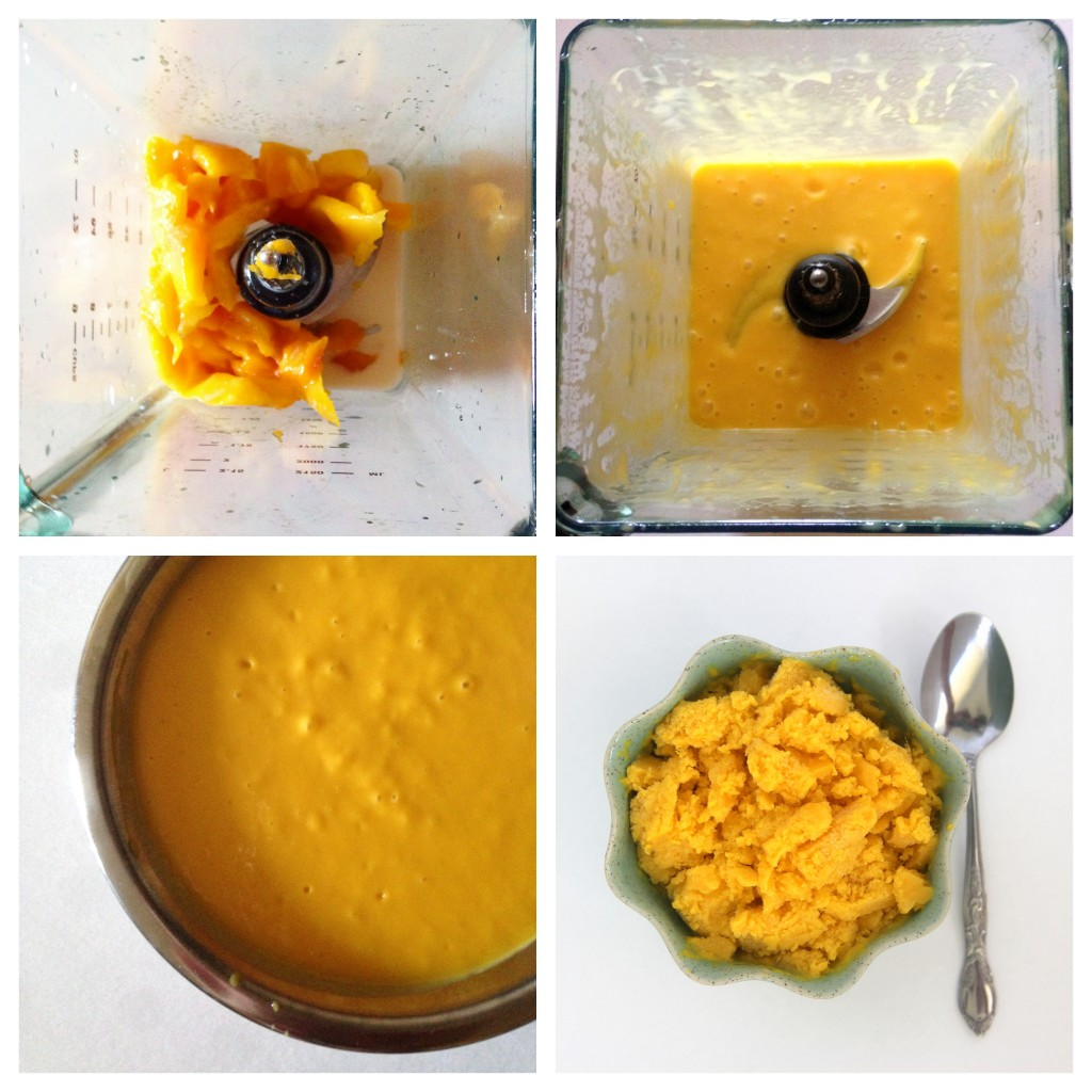 homemade 3 ingredient mango ice cream