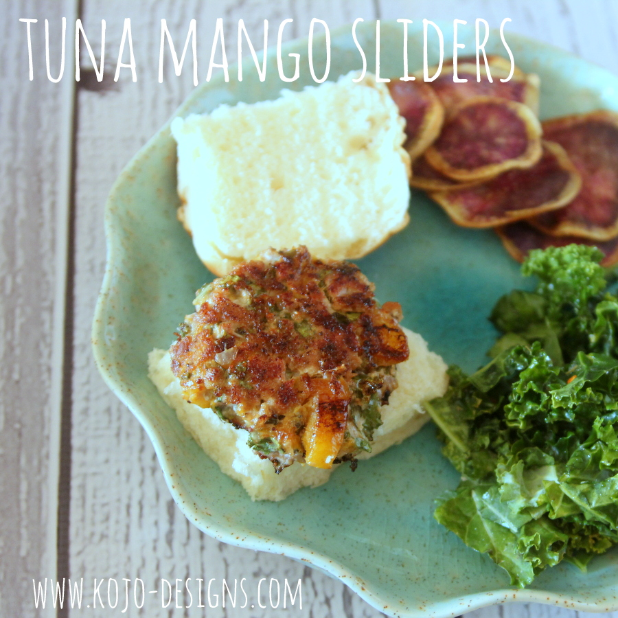 tuna mango sliders with citrus mayo