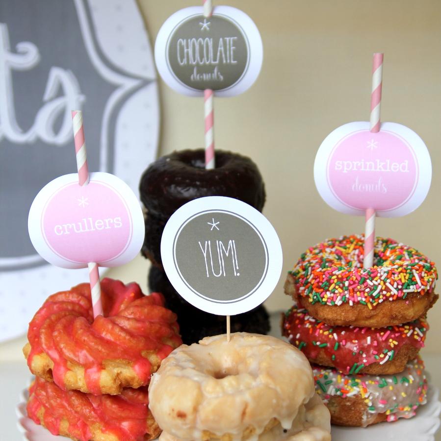 pink donut station