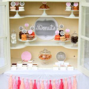 pink donut buffet