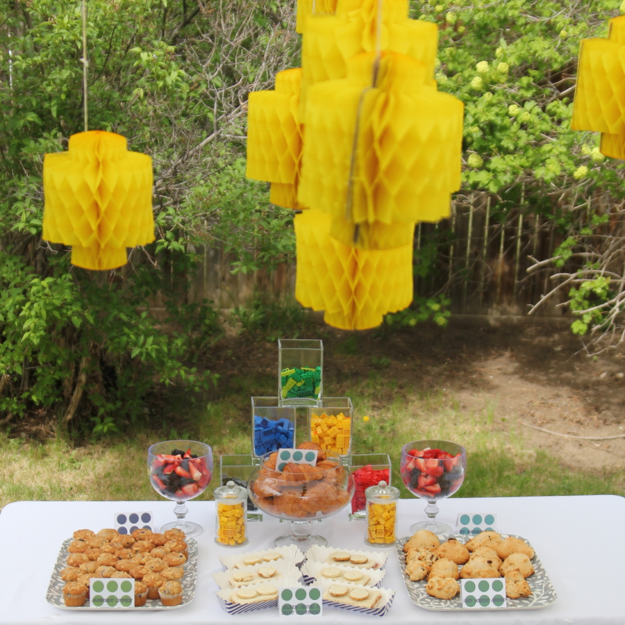 Lego birthday party menu
