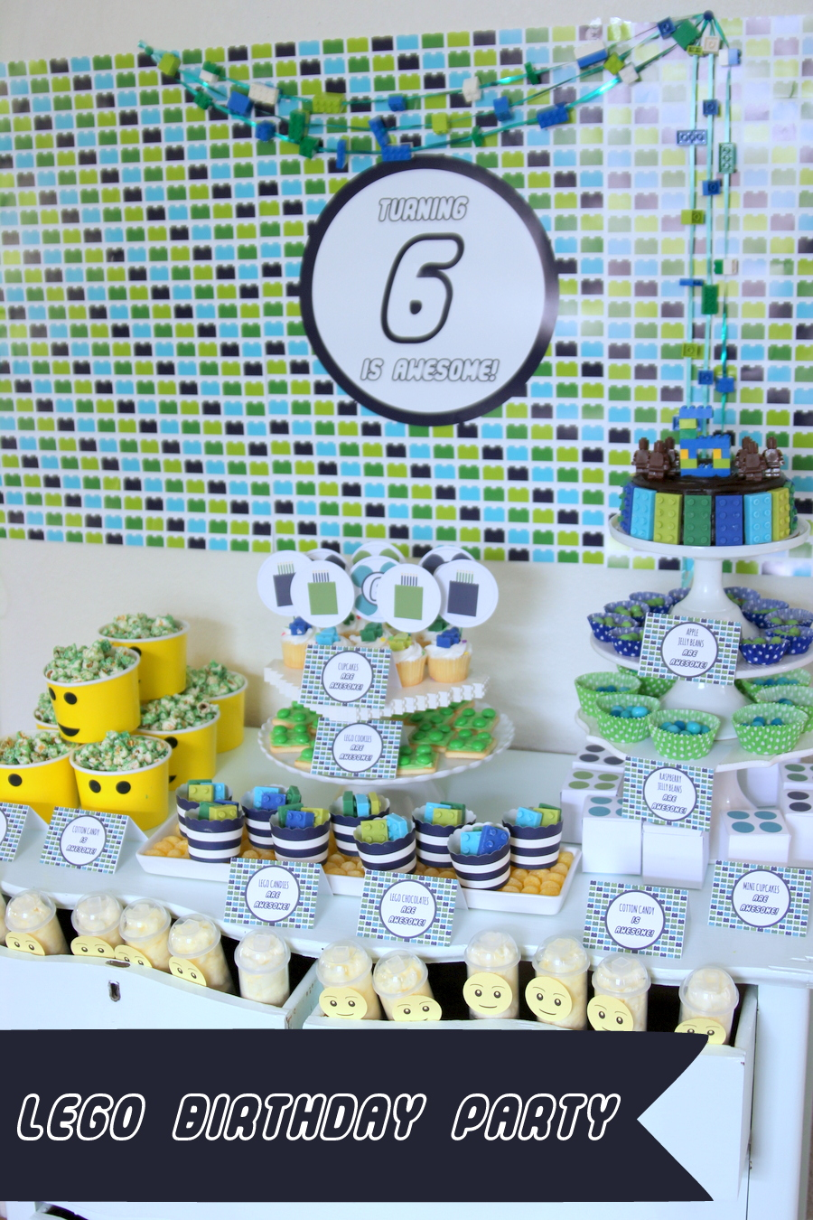 Lego birthday party- this party is full of simple DIY ideas for a Lego party!