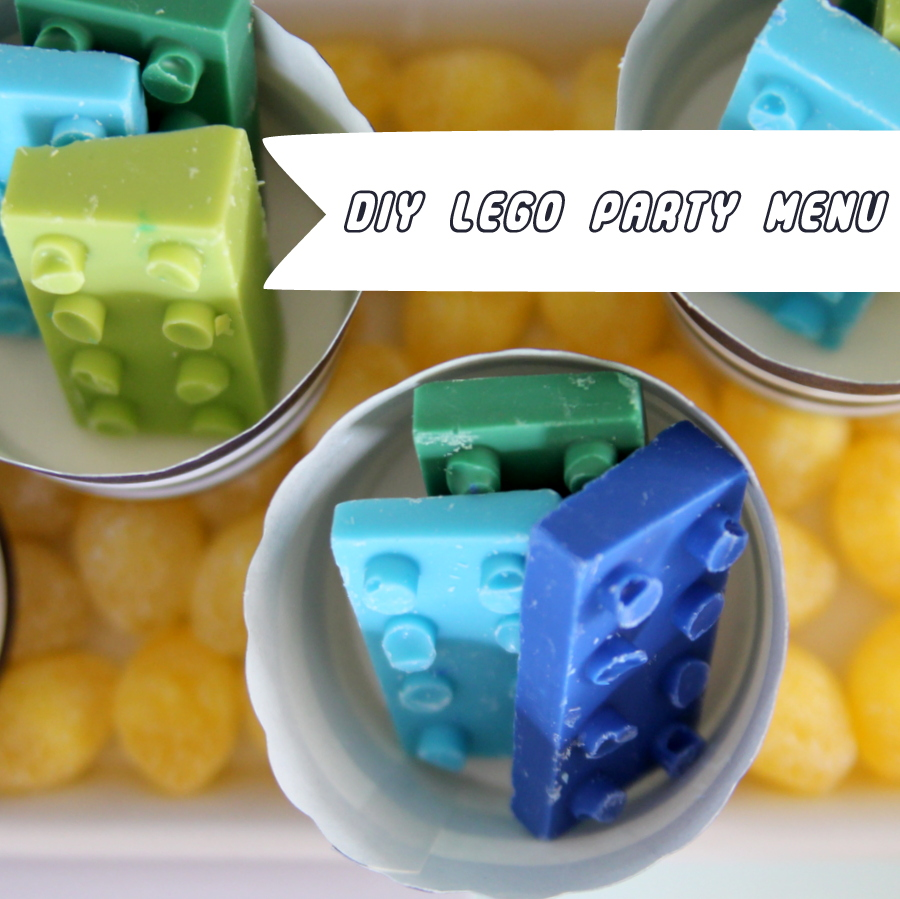 DIY Lego birthday party menu- ideas and DIYs from this Lego party and links to many more Lego food ideas!
