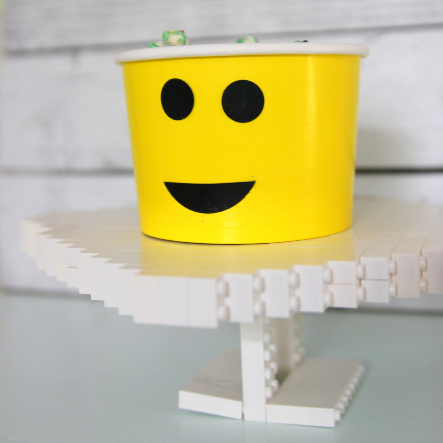 Lego birthday party cake stand