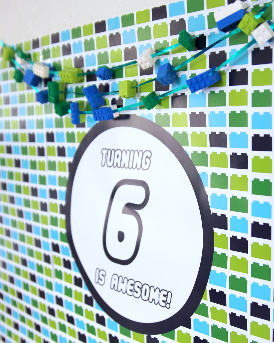 Lego birthday party decor