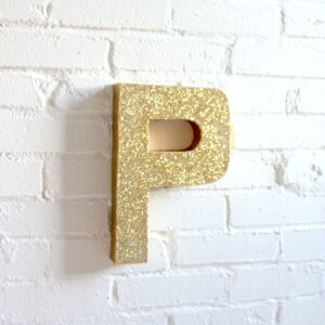 how to make a glittery, sparkly monogram