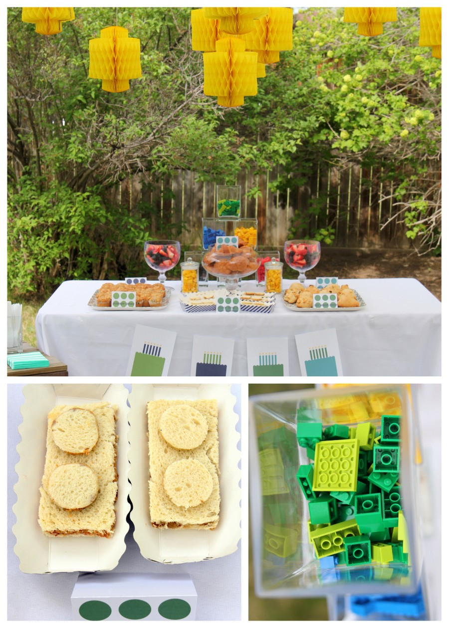 Lego birthday party menu ideas