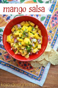 fresh mango salsa at kojo designs