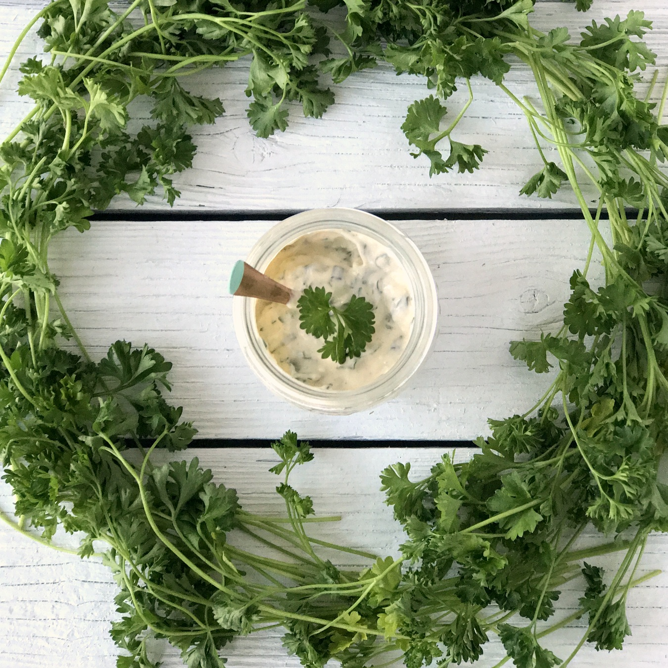homemade paleo ranch recipe with fresh herbs- once you try this, all other ranches will be ruined forever