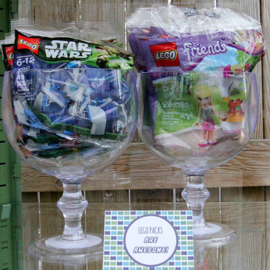 Lego birthday party favor ideas- Lego packs