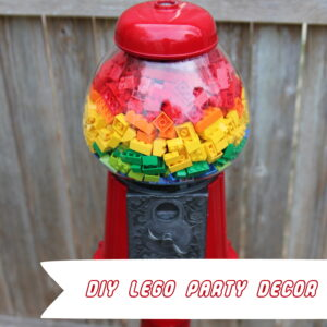 DIY decor for a Lego themed birthday party