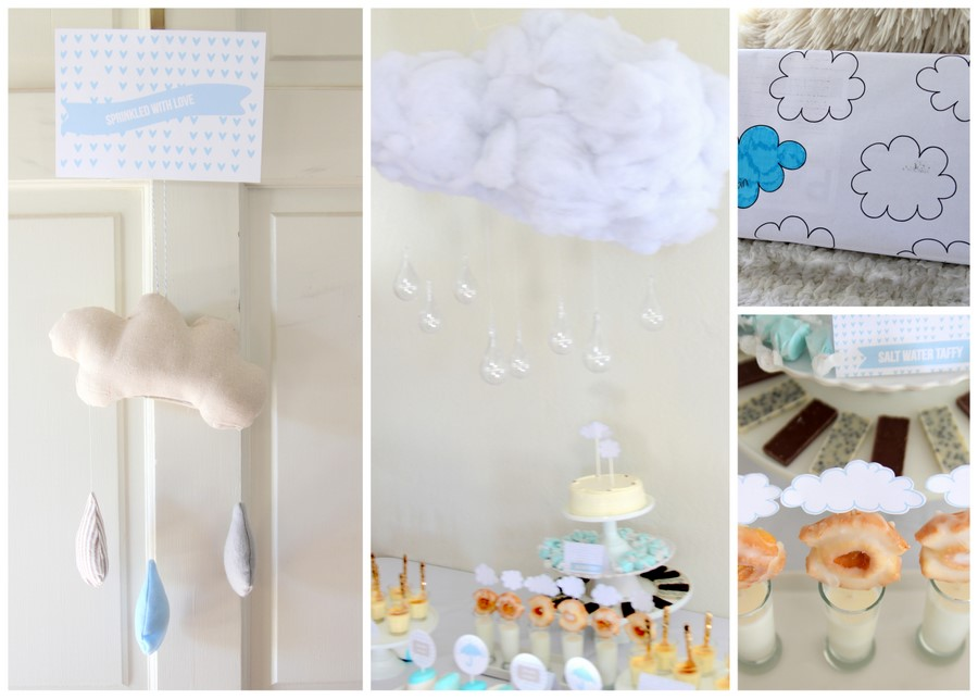 cloud baby shower decor ideas