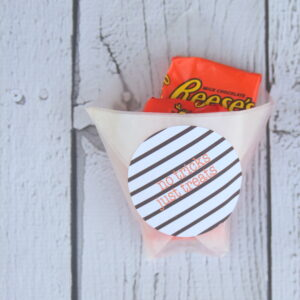 free striped halloween treat labels