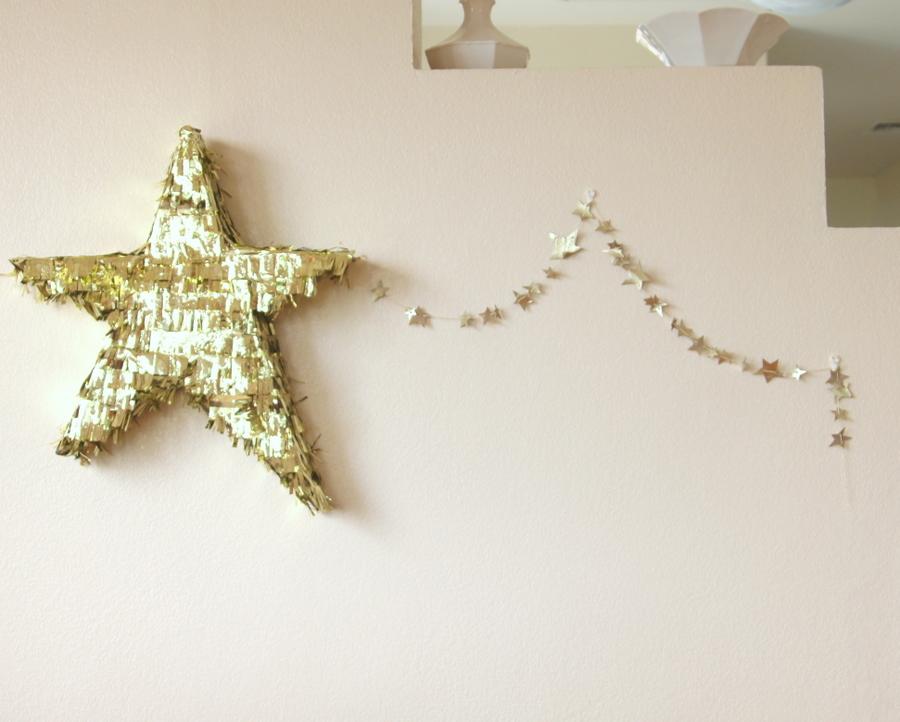 DIY leather star garland