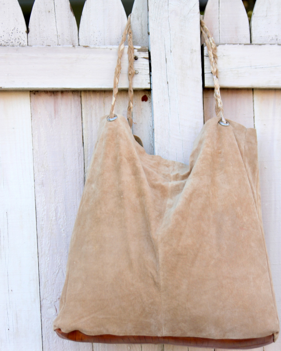 how to make a leather tote