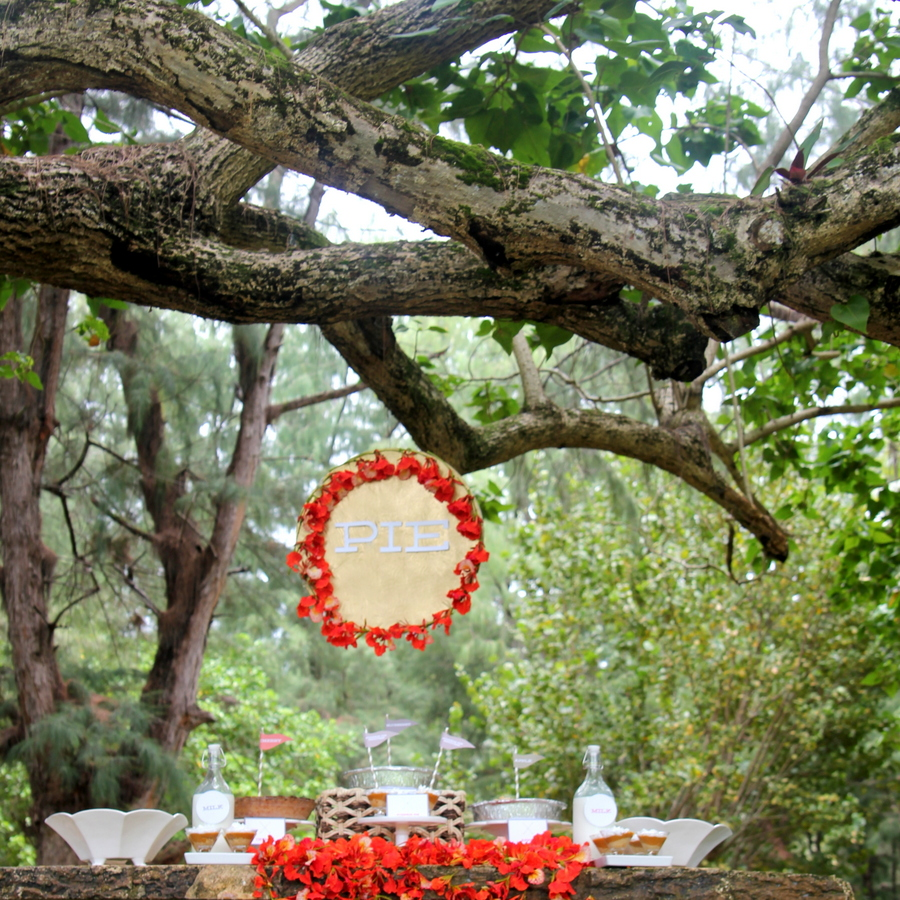 magical woodland pie party (with a pie bar)
