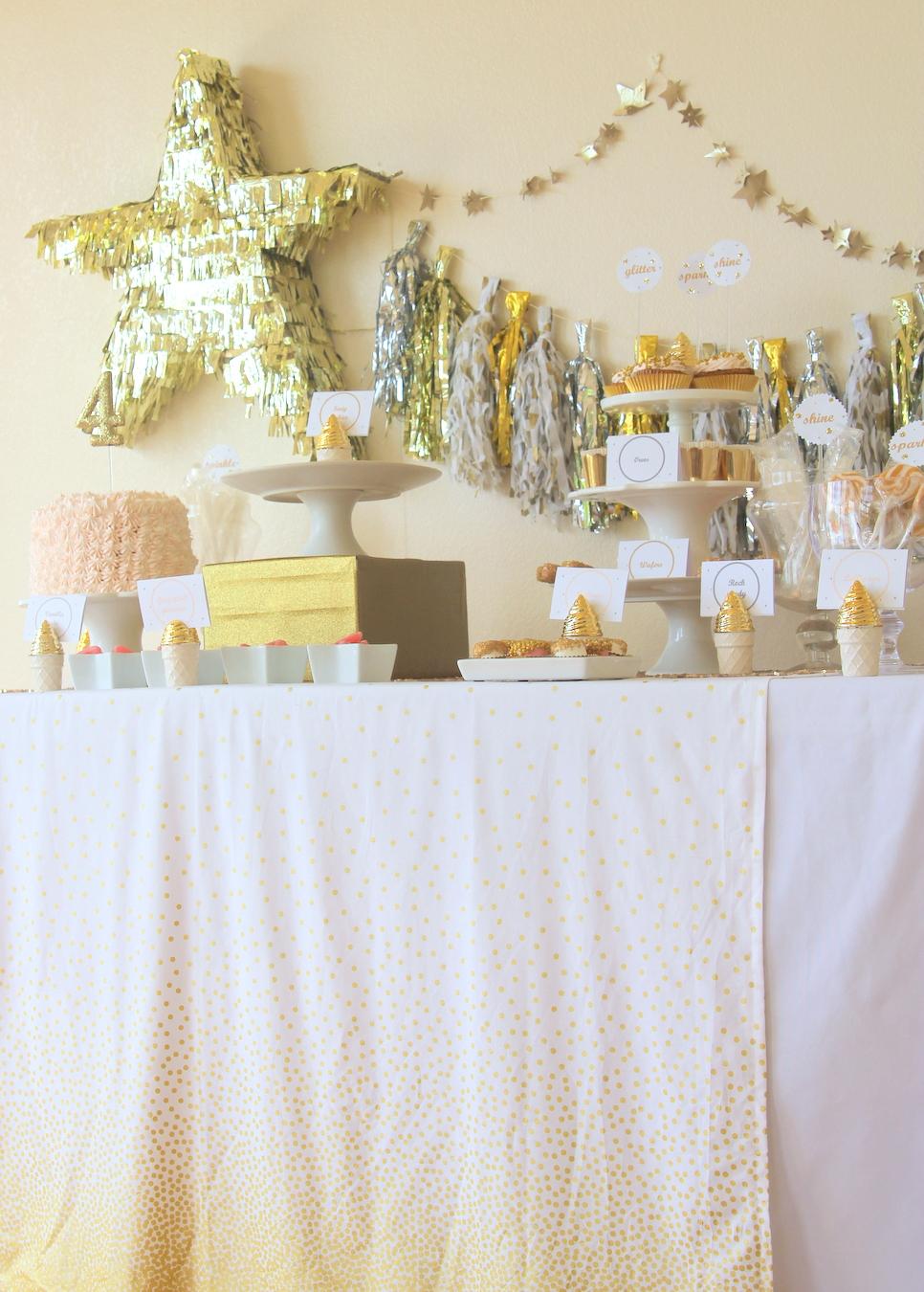 glitter party decor- tassel garland