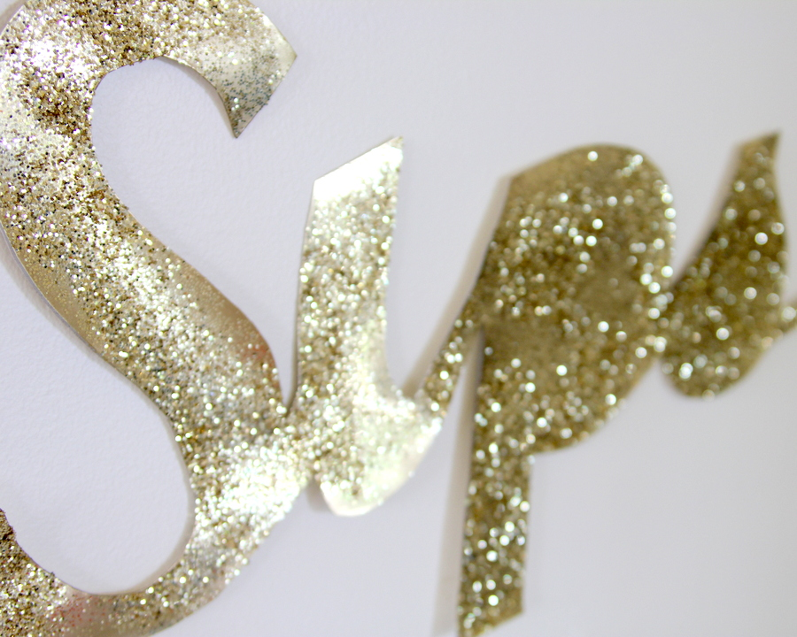 DIY giant glitter sign