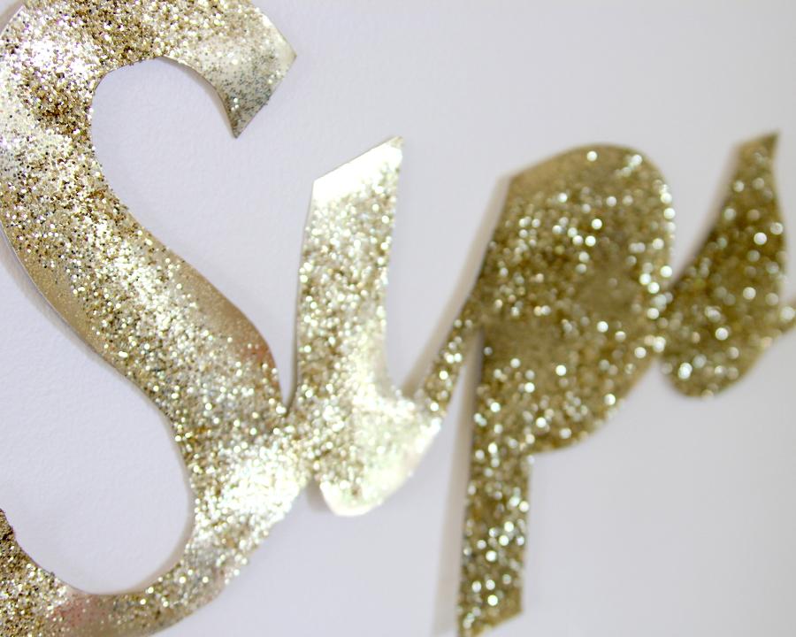 DIY giant glitter sign