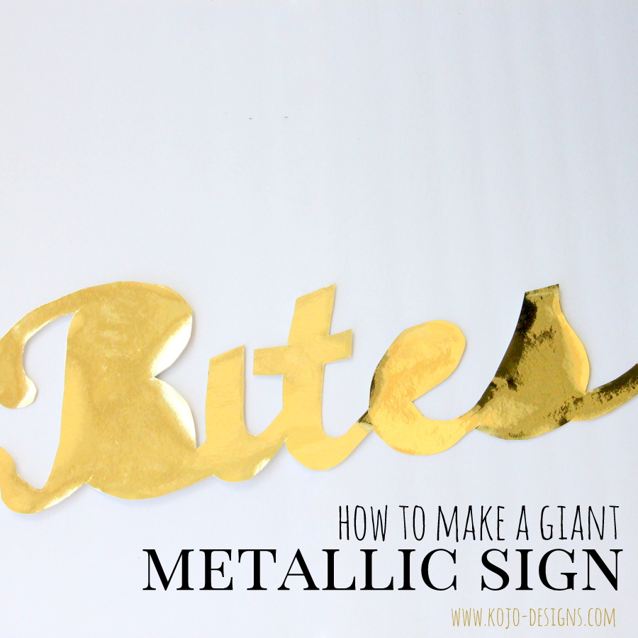 how to make a giant metallic sign