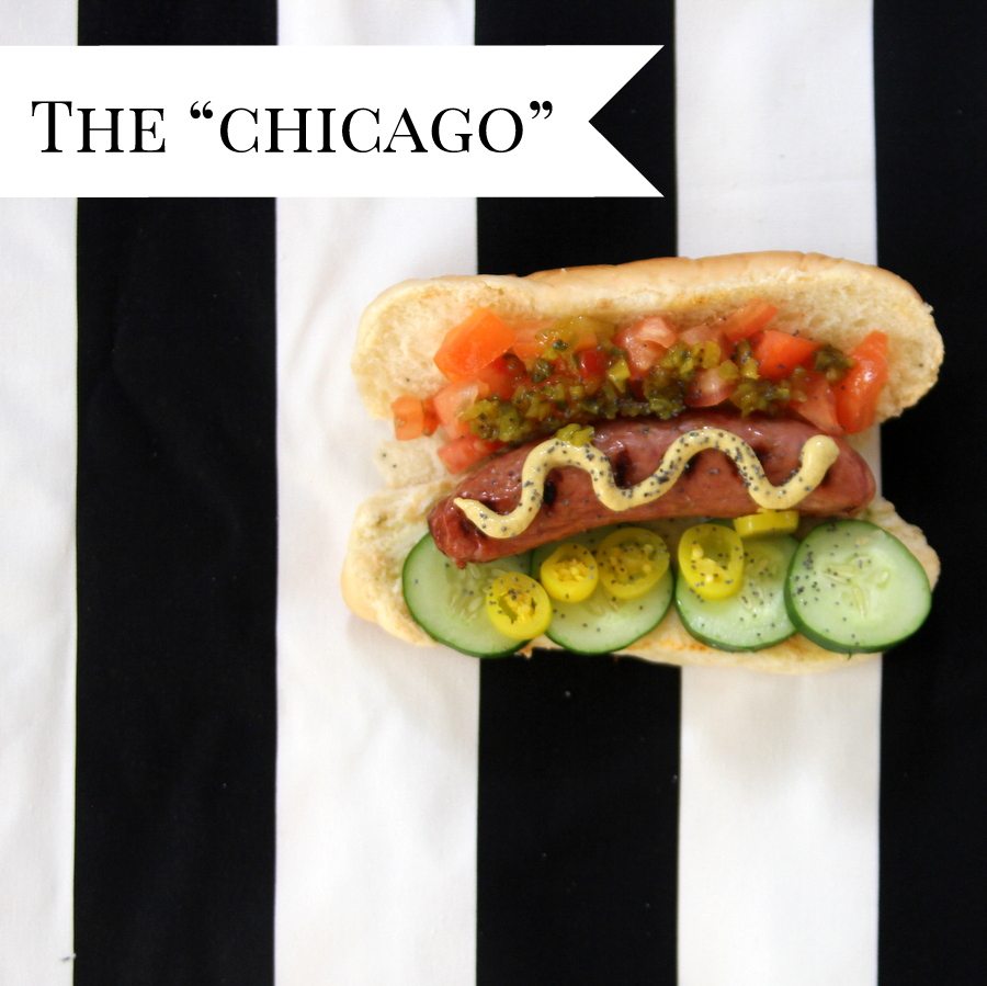 gourmet hot dog lineup- the chicago