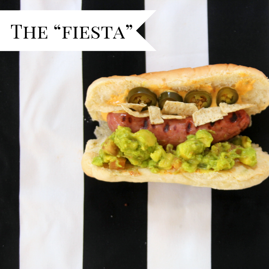 gourmet hot dog ideas- the fiesta