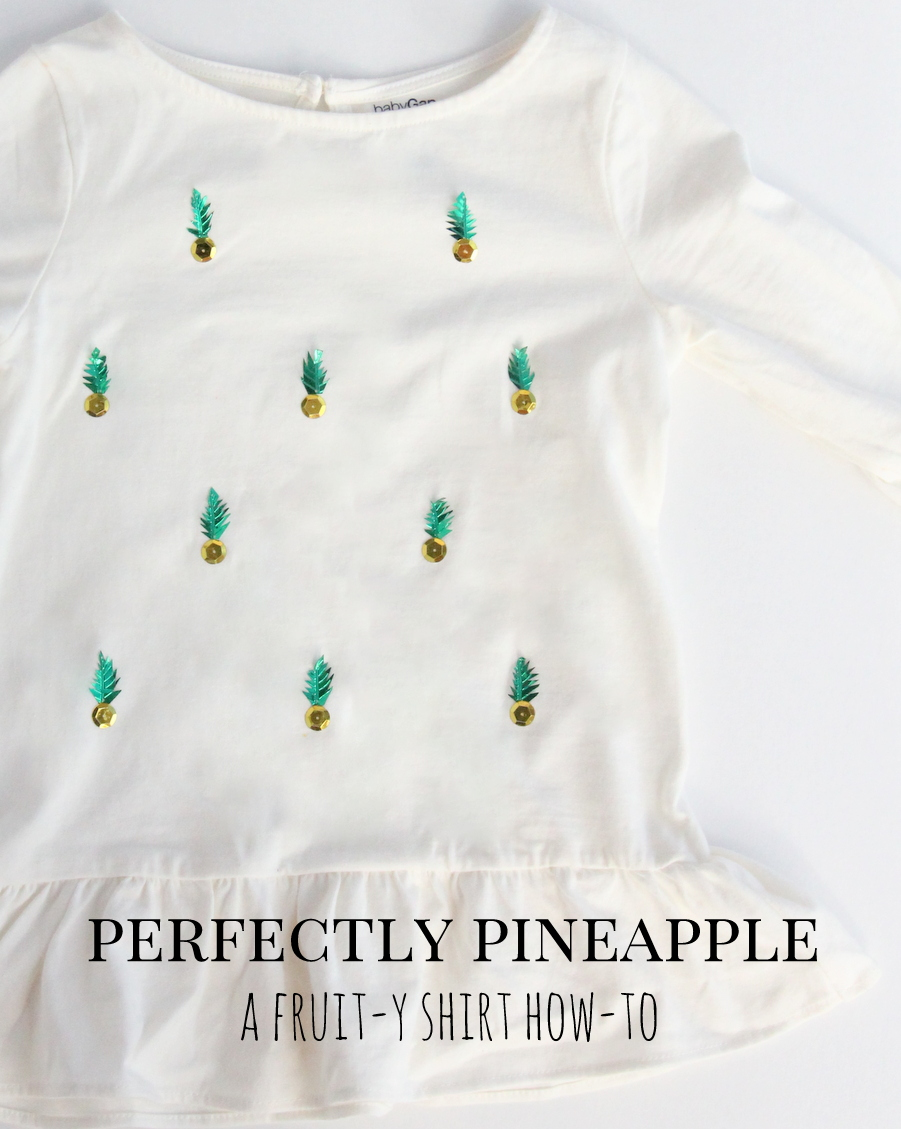 This pineapple shirt only takes 30 minutes and is a huge kid pleaser (the perfect kind of project)!
