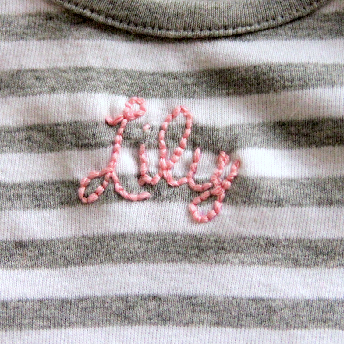 DIY custom embroidered onesie