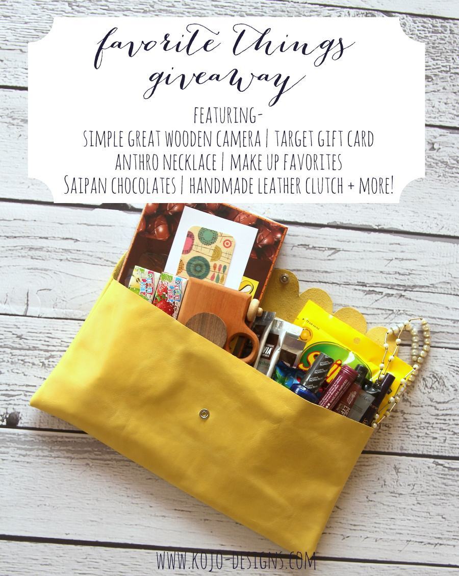 2014 favorite things giveaway kojodesigns