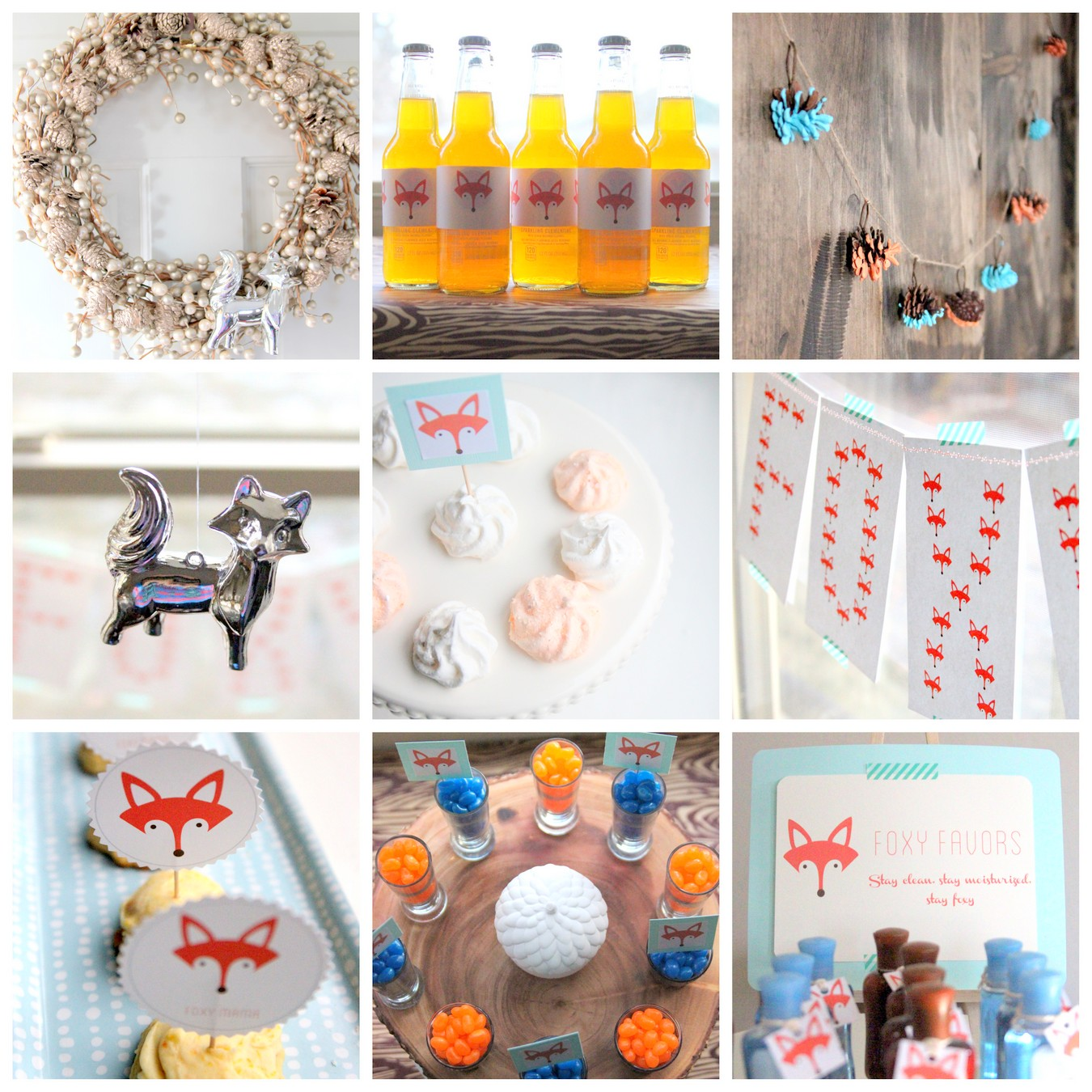 fox themed baby shower