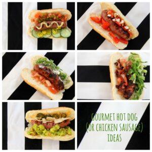 gourmet hot dog and chicken sausage ideas