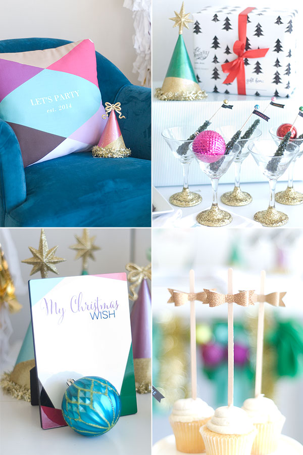 Season to Sparkle party hop- this party is gorgeous and full of ideas for Christmas, New Year's and even glittery birthday parties!