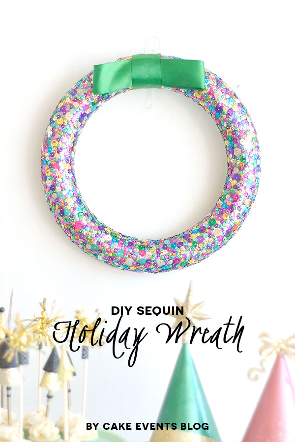 season to sparkle party hop sequin wreath- can't wait to make one of these!