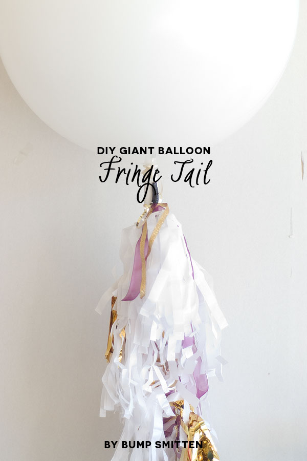 Season to sparkle party hop- these DIY balloon fringe tails are perfect for a sparkle party (or any holiday party for that matter!)