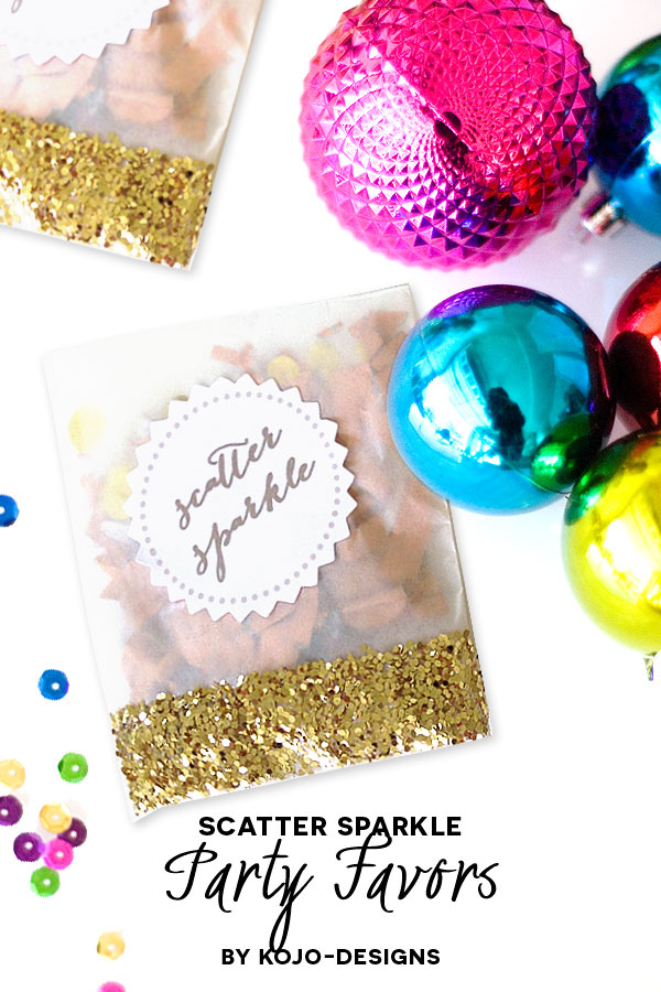 how to make sparkly glittery confetti packets (Season to Sparkle party hop)