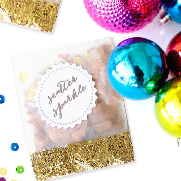 DIY glitter confetti packets