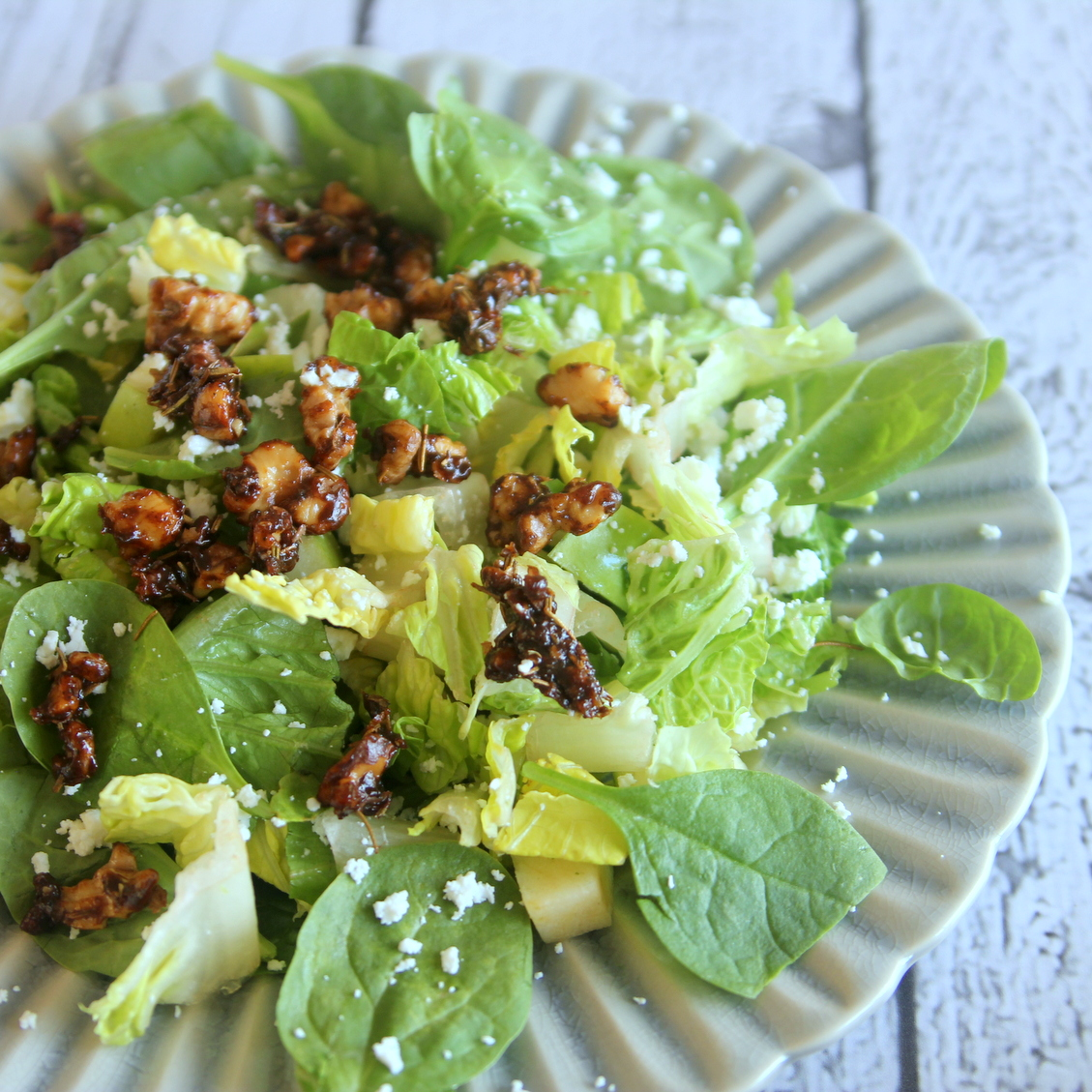 the best salad toppers- rosemary candied walnuts