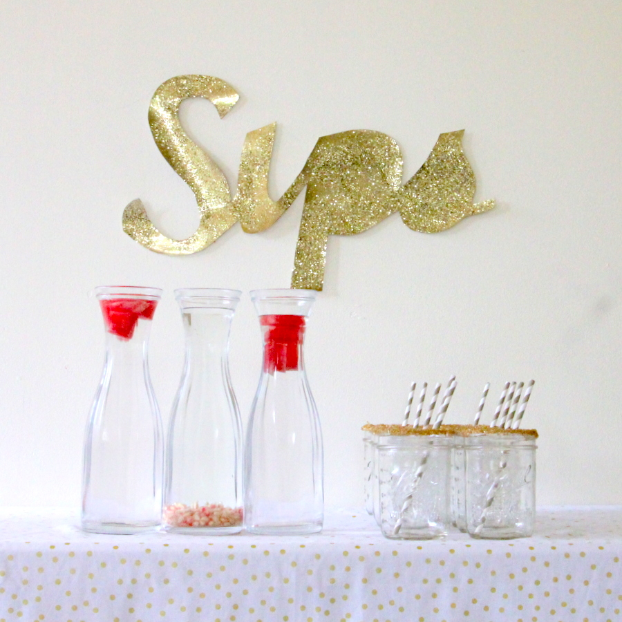 sparkle party drink table