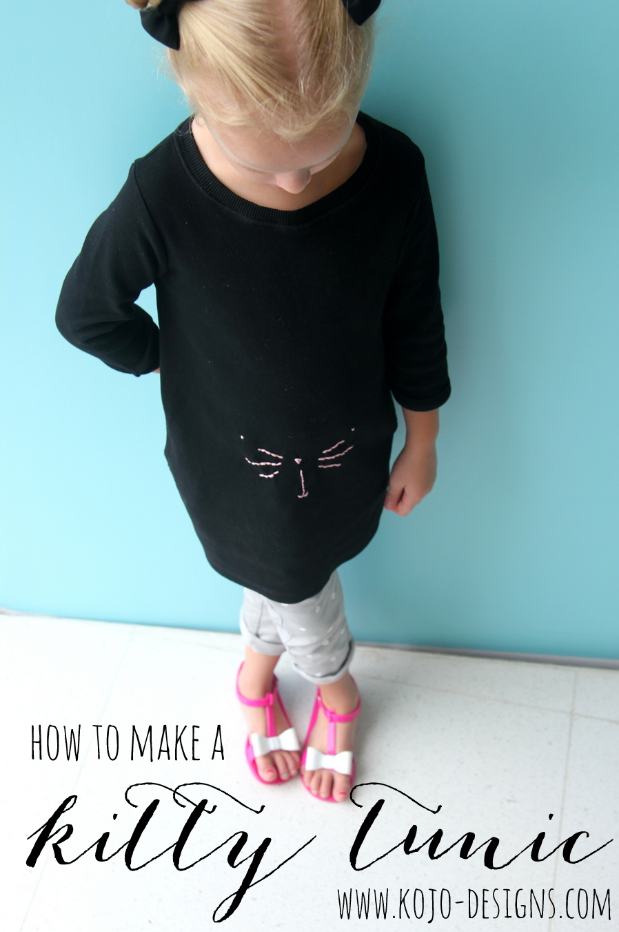 how to make a kitty tunic (with free kitty face template)