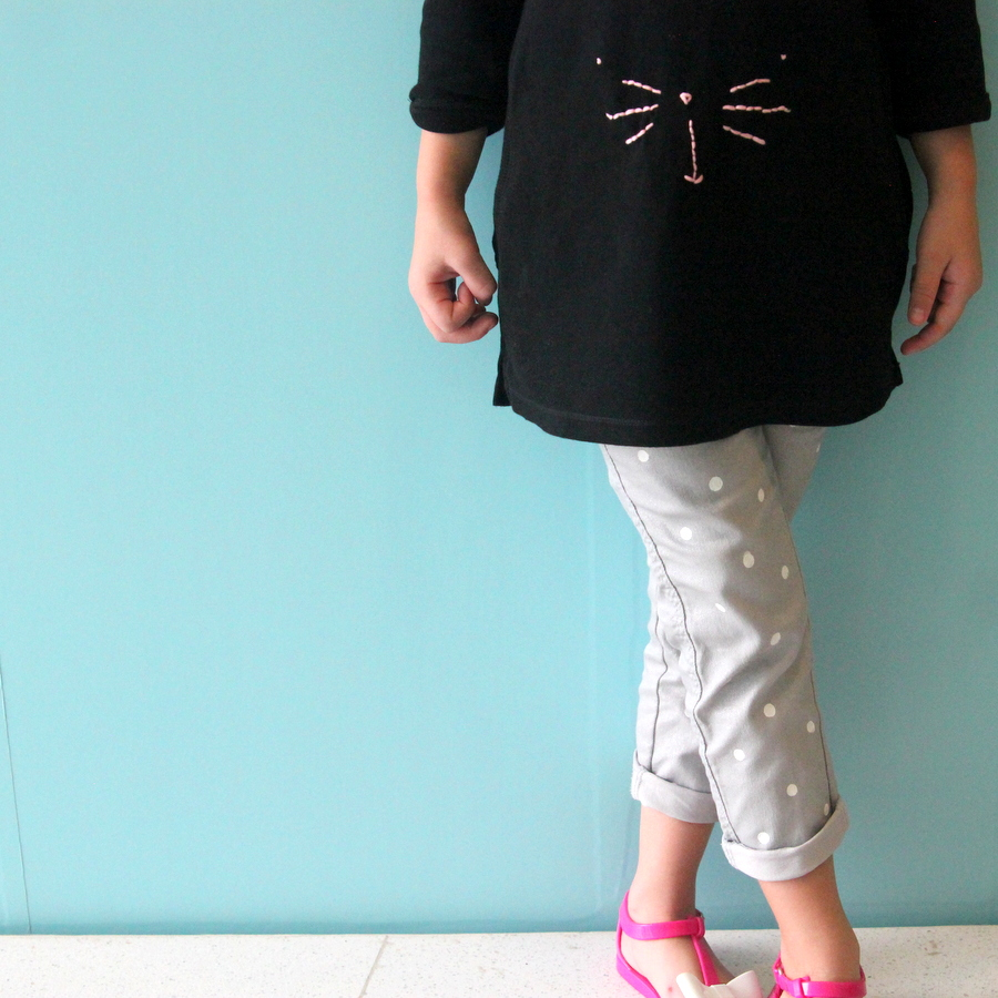 DIY kitty tunic (with free printable template)