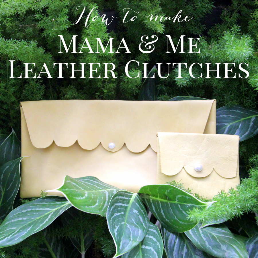 how to make a simple leather clutch (and a mini version as well)