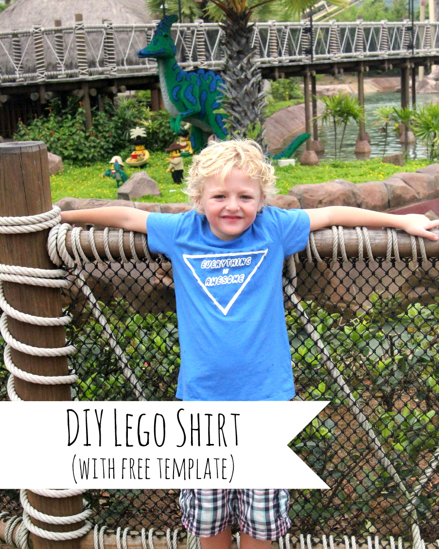 DIY 'everything is awesome' Lego shirt with free template
