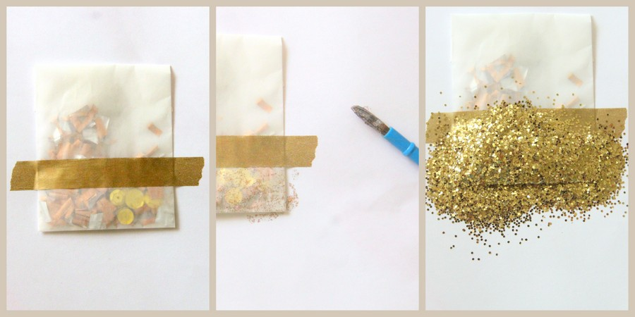 DIY glitter confetti packets