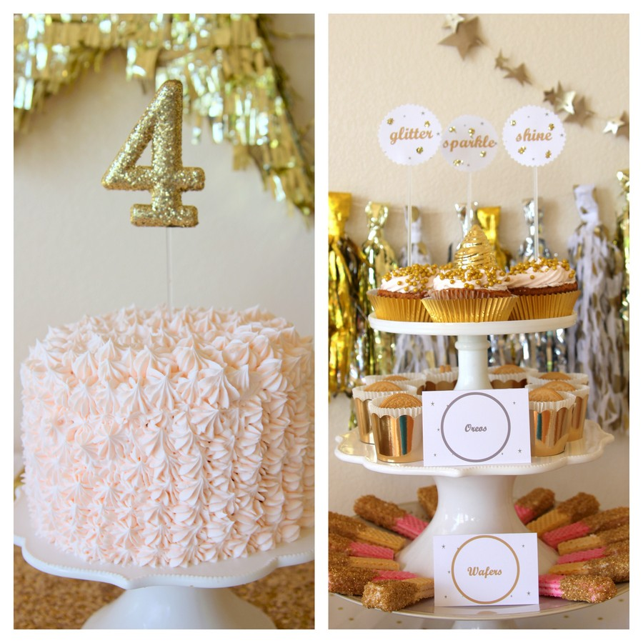 sparkle party treat table