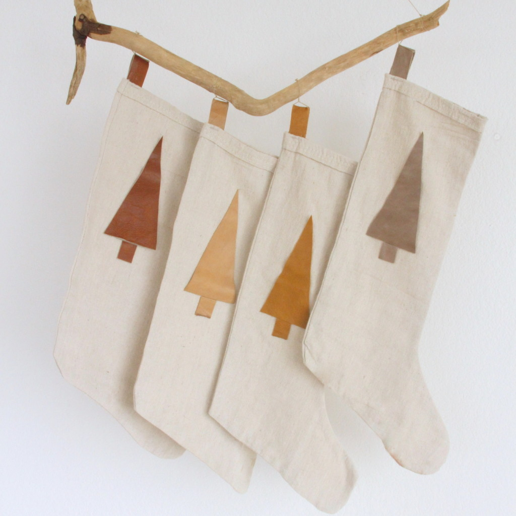 easiest ever DIY stockings